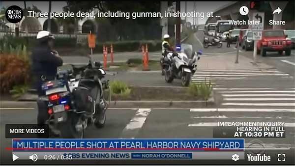 کشته شدن سه نظامی آمریکا در پایگاه پرل هاربر